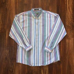 Vintage Vertical Striped Shirt